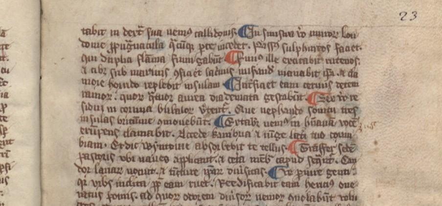 'C' for capitulum in De Gestis Regum Anglorum, 1125