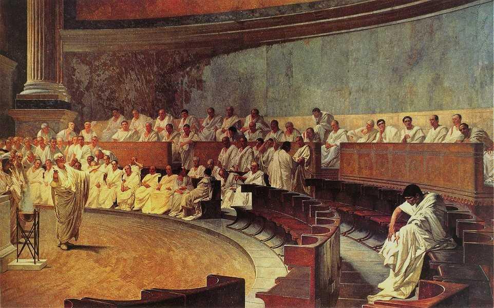 Cicero Denounces Catiline (1889) by Cesare Maccari