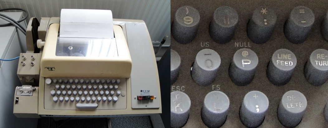 &#039;@&#039; key on Teletype model ASR-33 teleprinter