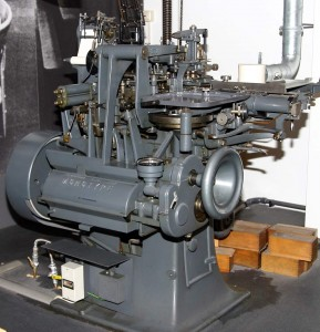 A Monotype caster.
