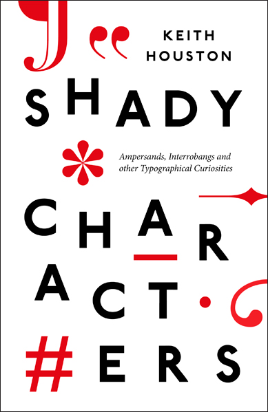 The cover of Shady Characters' UK edition, published by Particular Books.