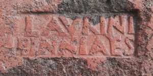 Brickmaker's stamp at Pompeii. (Photo by the author.)