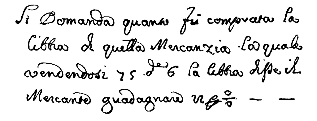 A percent sign written in 1684, as reproduced in David Eugene Smith's History of Mathematics. (Image courtesy of archive.org.)