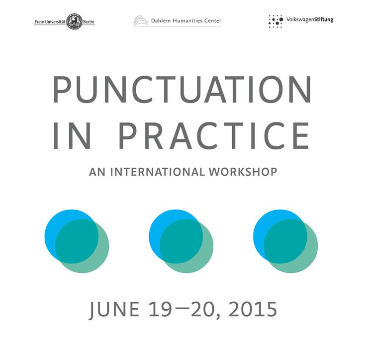 "Melanie Wiener's poster for ""Punctuation in Practice""."