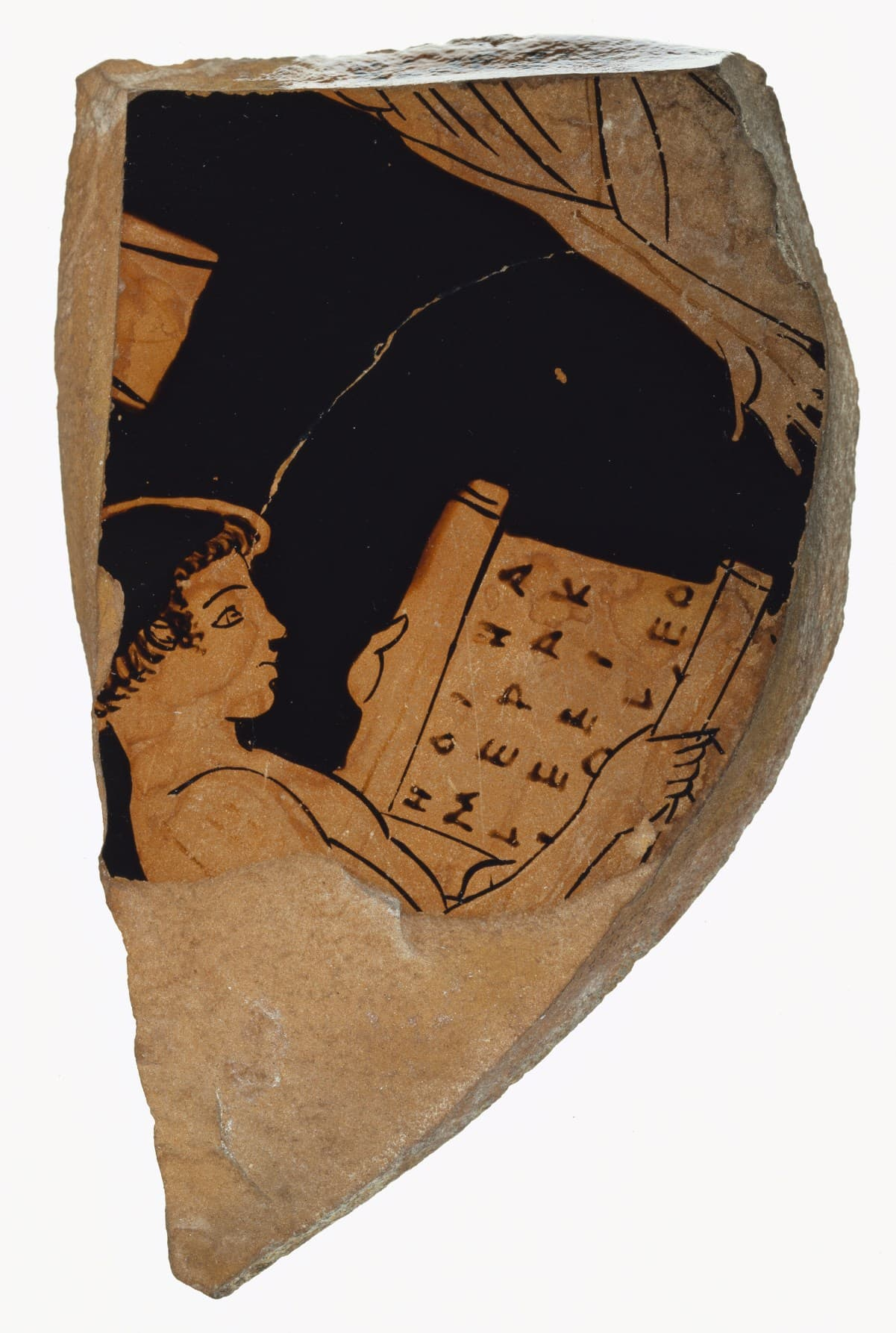 Attic Red-Figure Cup Fragment. (Digital image courtesy of the Getty's Open Content Program.)